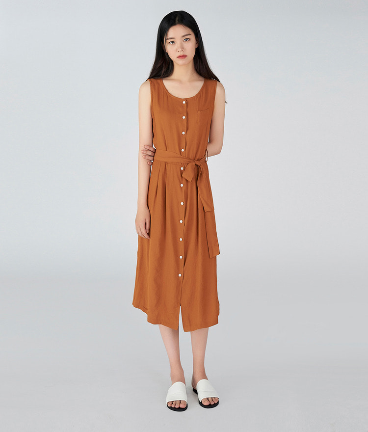 ESSAYButton-Up Sleeveless Dress
