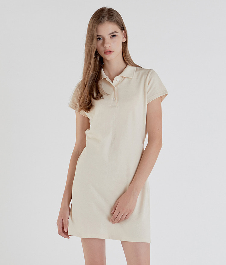 ESSAYShort Sleeve Polo Dress