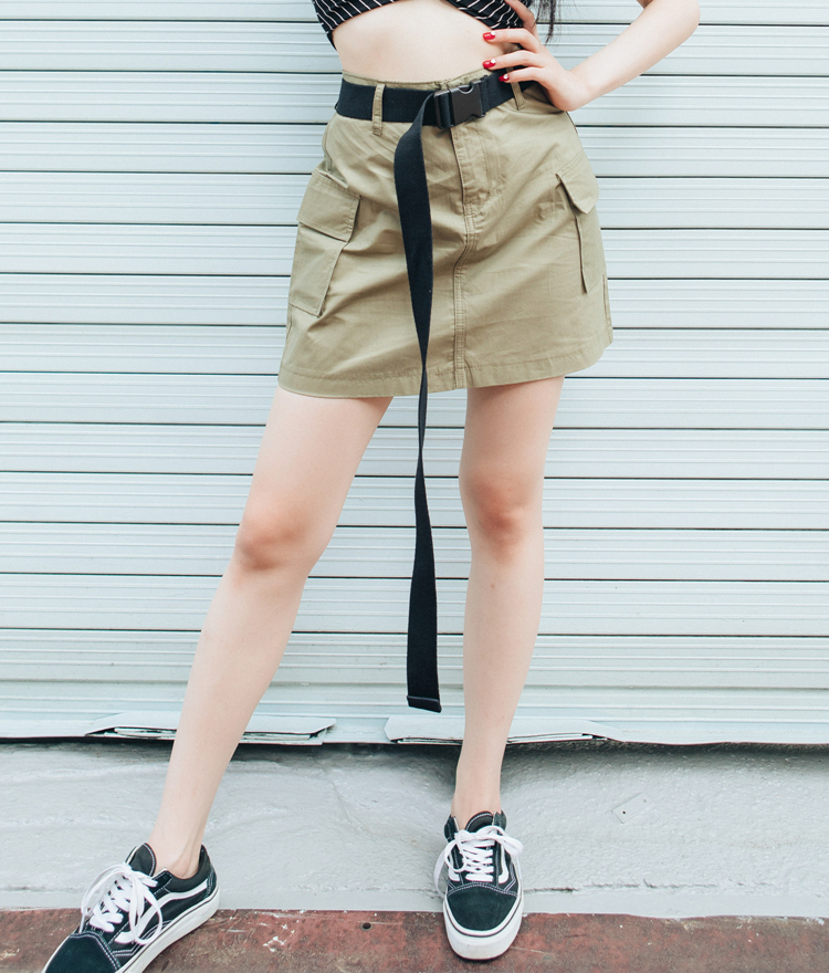 QUIETLABFlap Pocket Mini Skirt