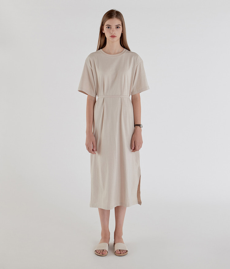 ESSAYSolid Tone Midi Dress