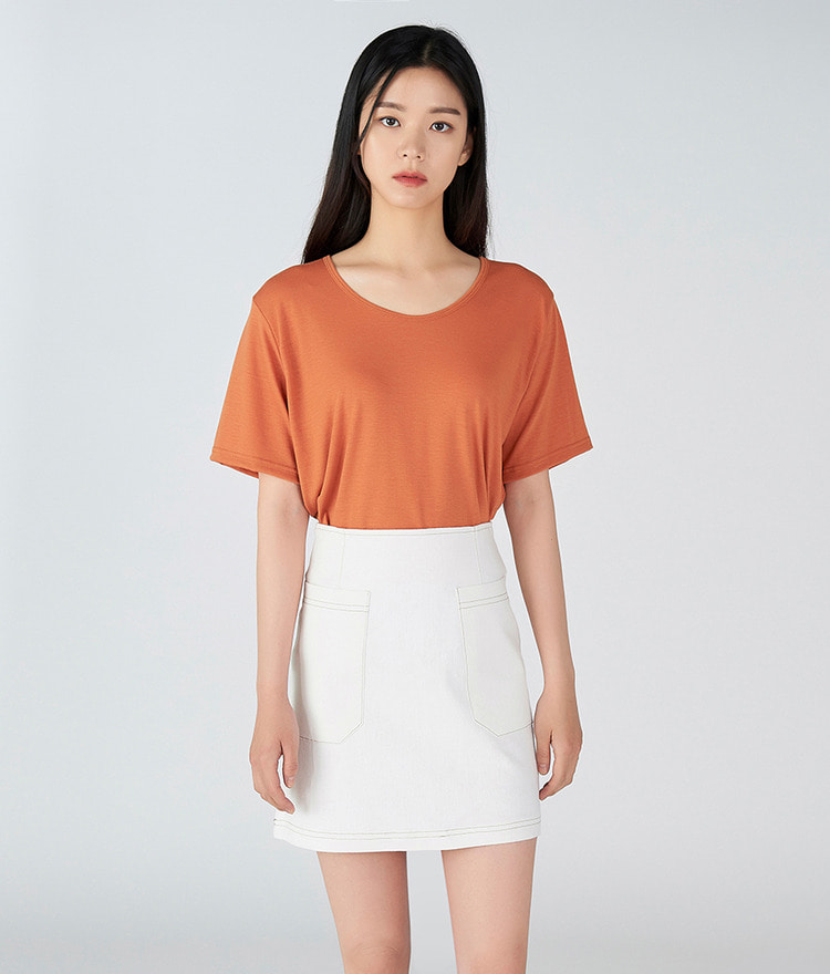 ESSAYSolid Tone Mini Skirt