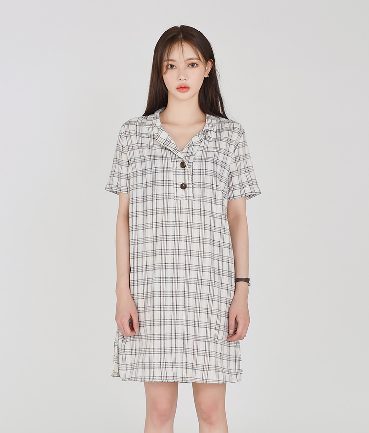ESSAYMini Check Dress