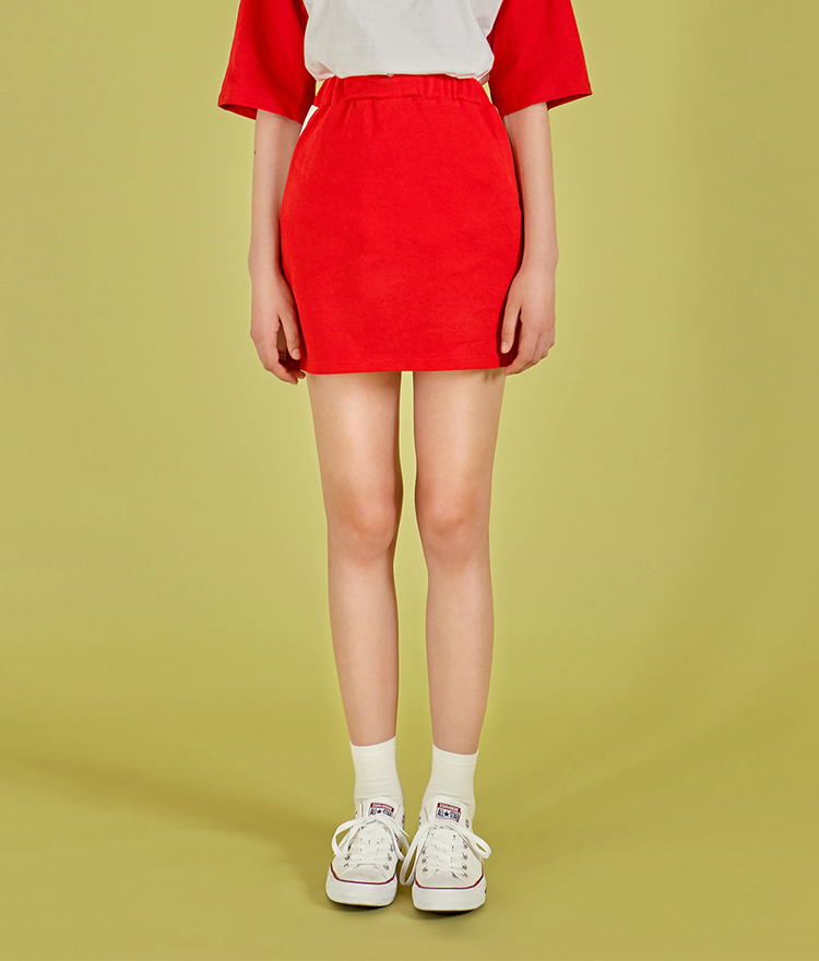 NEVERM!NDContrast Side Panel Mini Skirt