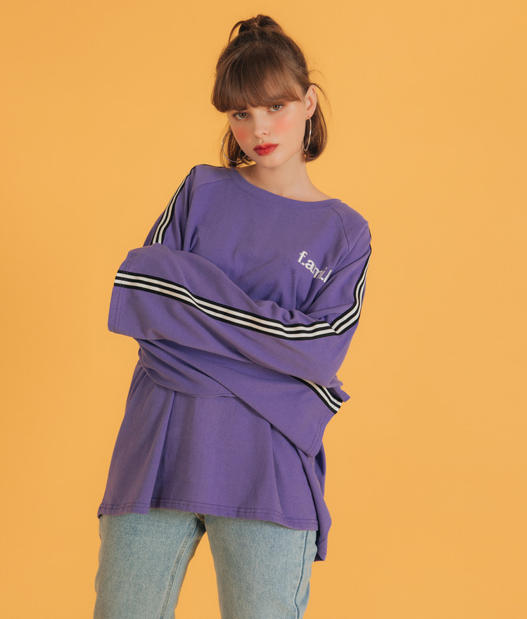 NEVERM!NDSide Stripe Long Sleeve T-Shirt