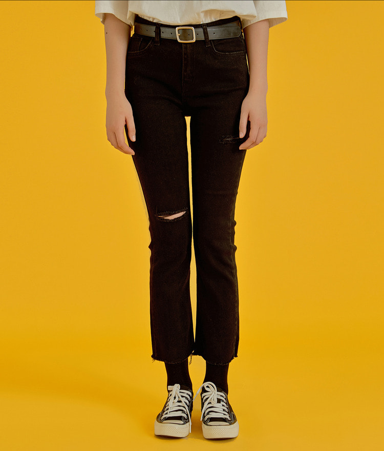 NEVERM!NDRipped Knee Skinny Jeans