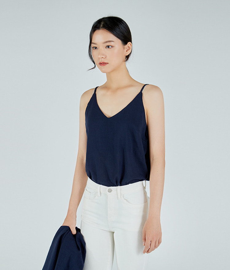 ESSAYV-Neck Sleeveless Top