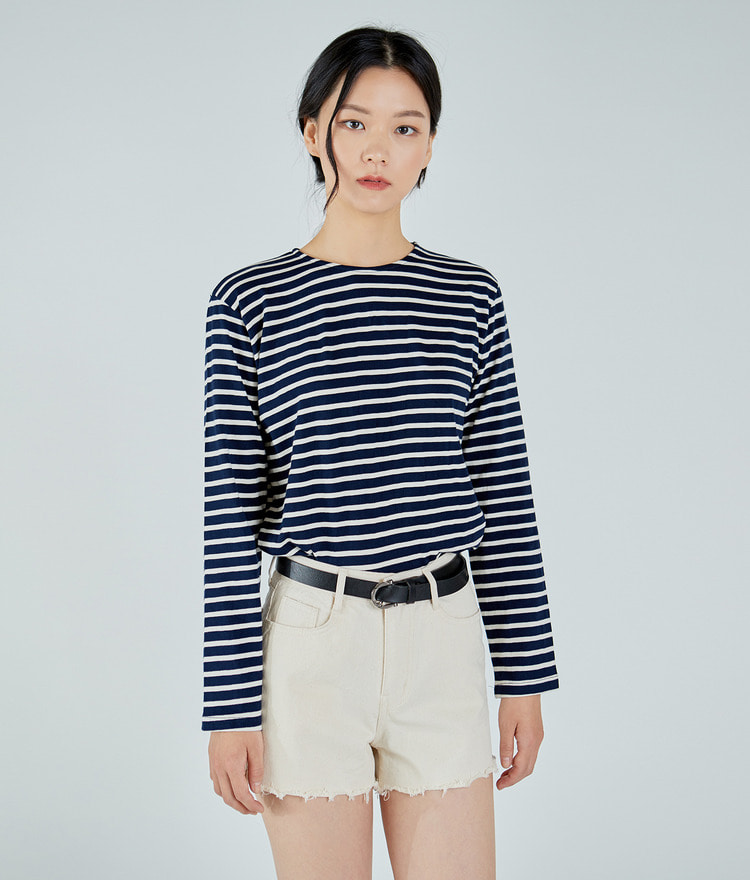 ESSAYLong Sleeve Stripe Top