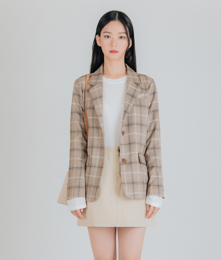 ESSAYButton-Front Check Jacket