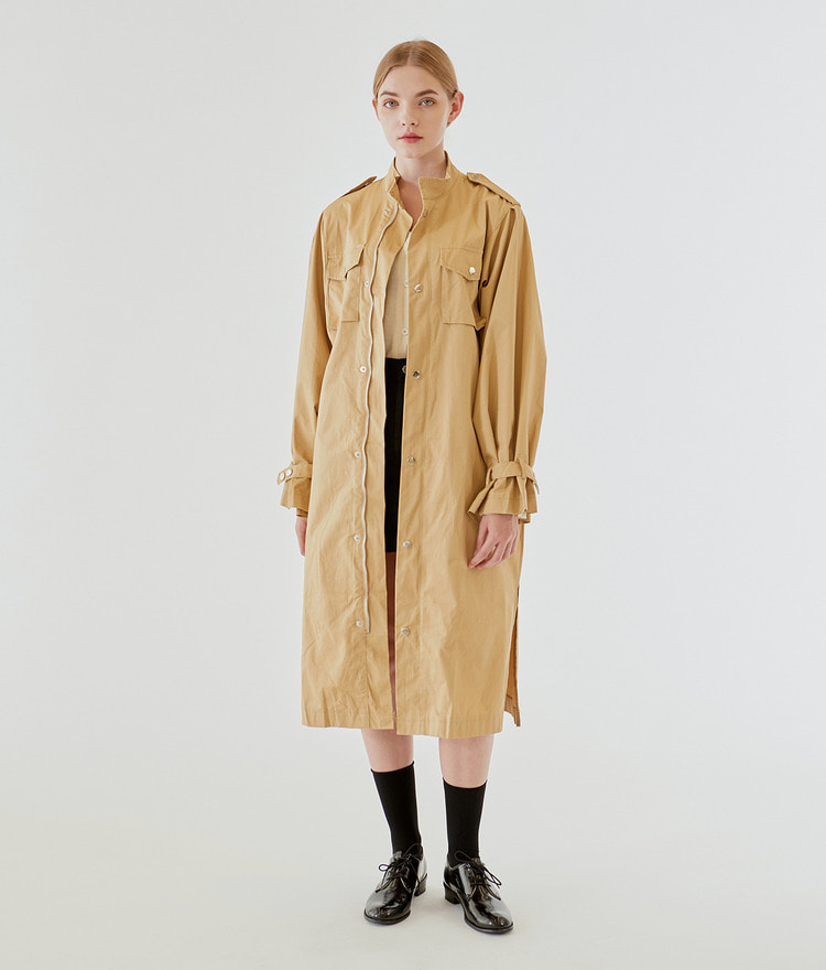 ESSAYChest Pocket Stand Collar Utility Coat