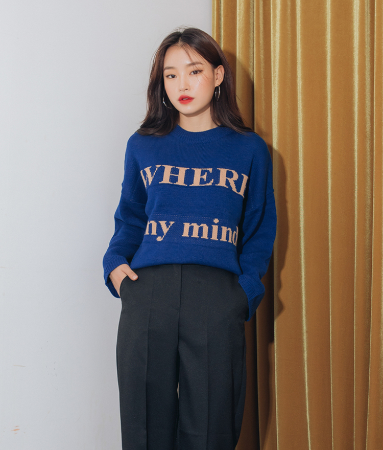 QUIETLABContrast Lettering Knit Top