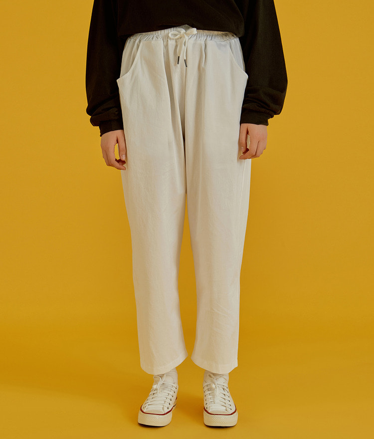 NEVERM!NDElastic Band Wide Leg Pants