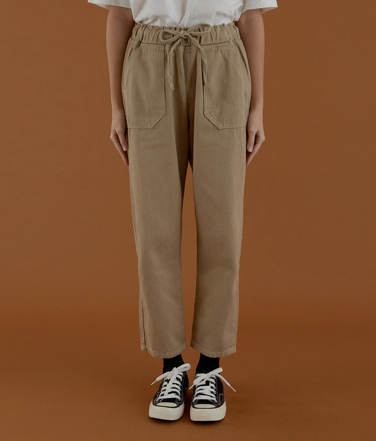 NEVERM!NDDrawstring Straight Cut Pants