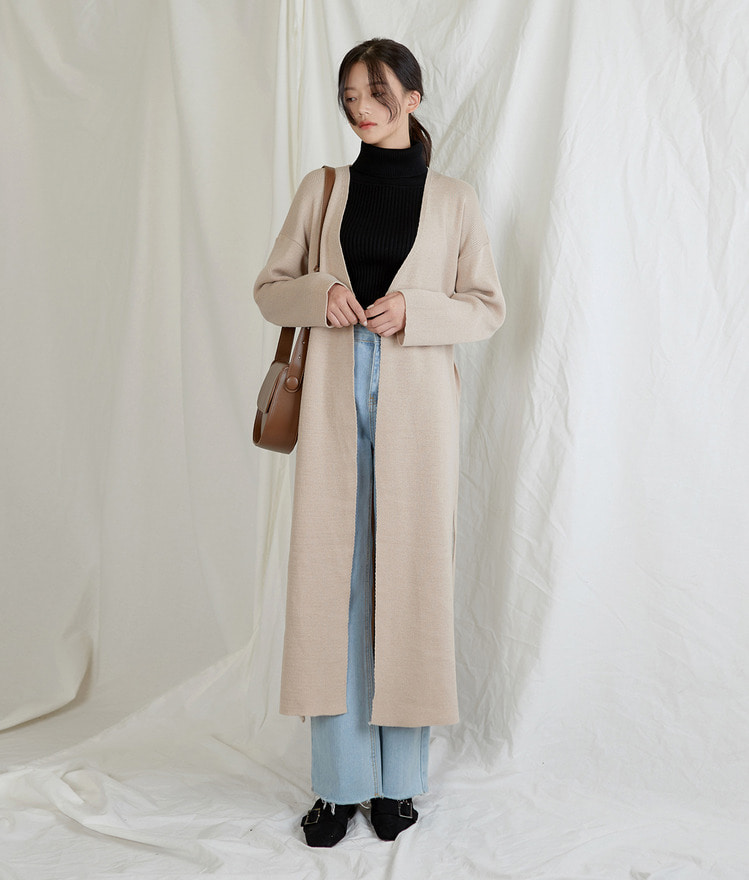 ESSAYSide Slit Long Cardigan