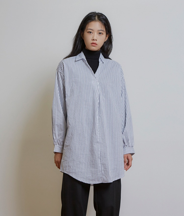 ESSAYSkipper Collar Stripe Shirt