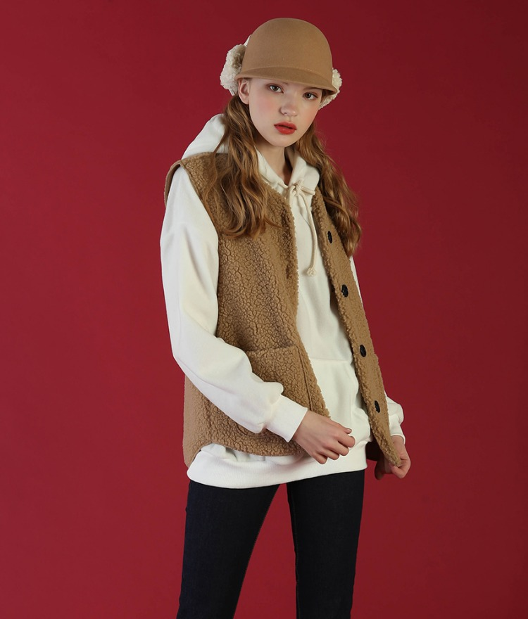 NEVERM!NDButton-Up Sherpa Fleece Vest