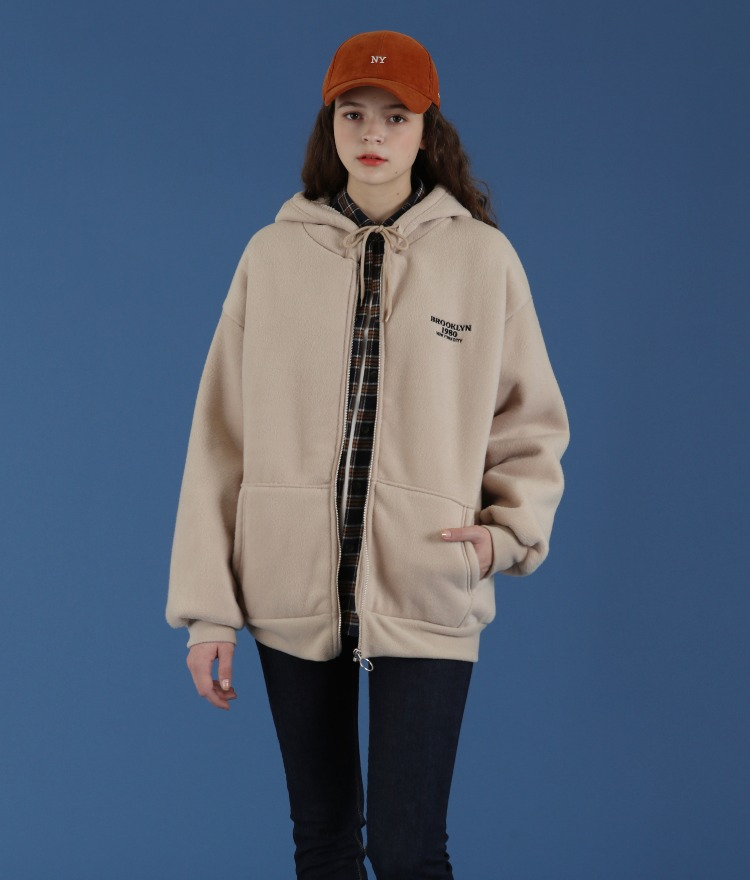 NEVERM!ND  Fuzzy Lined Zip Jacket