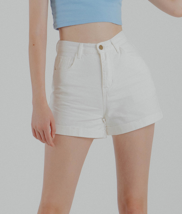NEVERM!NDBasic Cuffed Hem Shorts