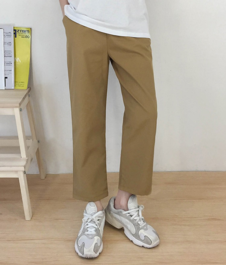 NEVERM!NDDrawstring Waist Loose Fit Pants