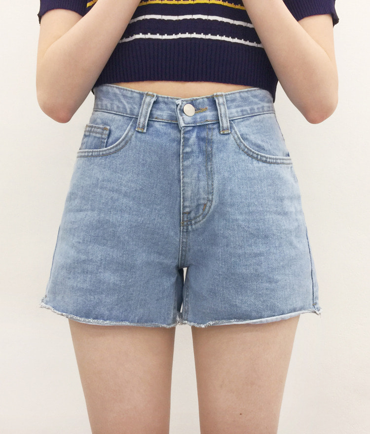 NEVERM!NDRolled Hem Denim Shorts