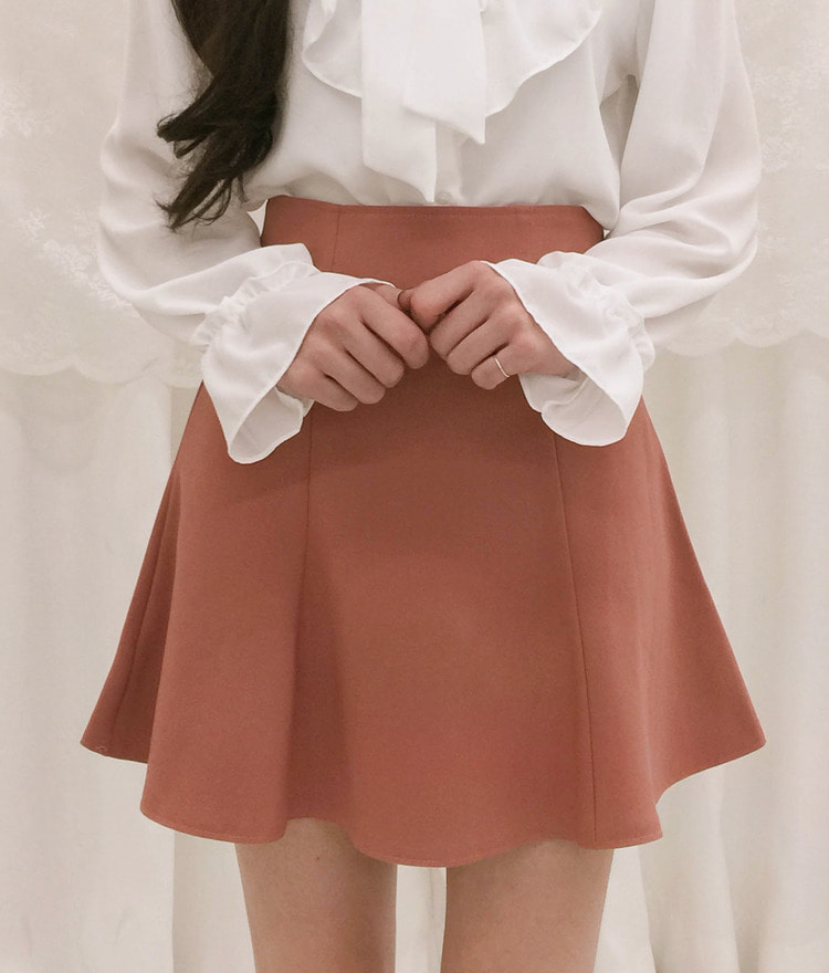 ROMANTIC MUSEHigh Waist Flared Skirt