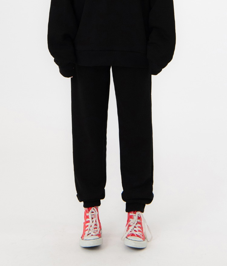 UNTITLE8Black Drawstring Waist Jogger Pants
