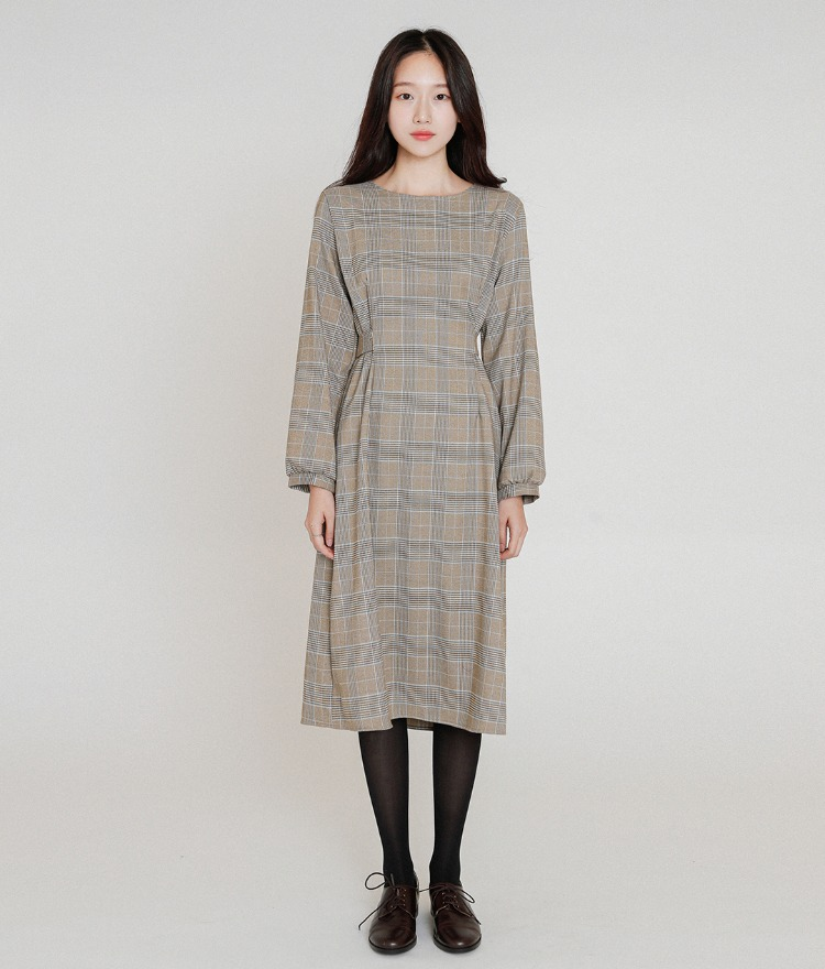 ESSAYTie-Waist Check Dress