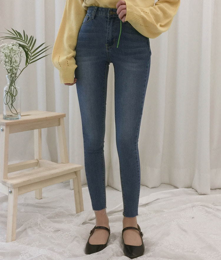 ROMANTIC MUSEWhisker Wash Slim Fit Denim Pants
