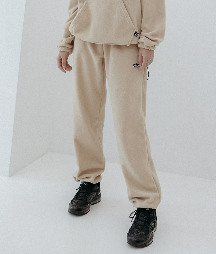 HIDEBeige Cord-Locked Hem Pants