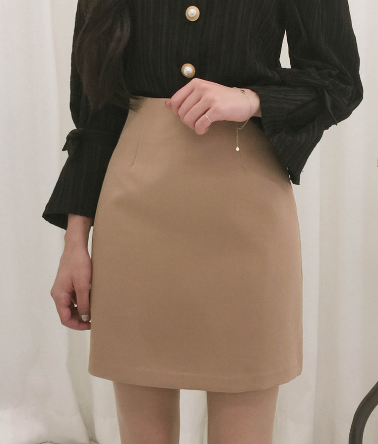 ROMANTIC MUSEBasic Back Zip Mini Skirt