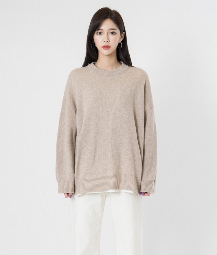 QUIETLABWoolen Round Neck Knit Top