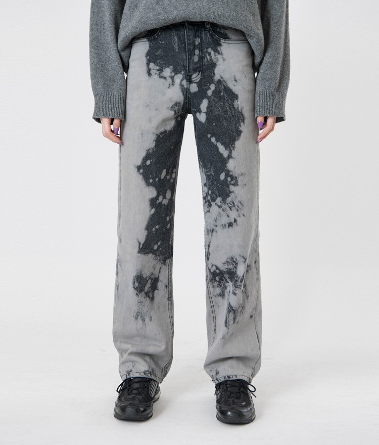 QUIETLABTie-Dye Dark Gray Denim Pants
