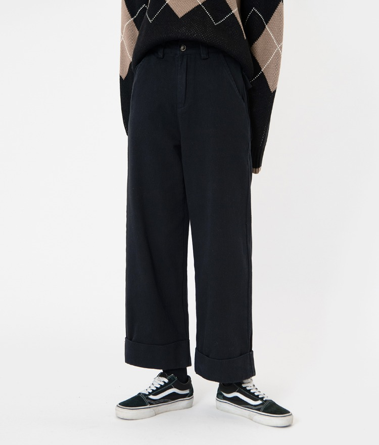 NEVERM!NDBaggy Cuffed Pants