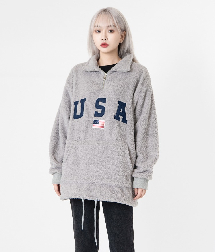 NEVERM!NDUSA Sherpa Fleece Pullover