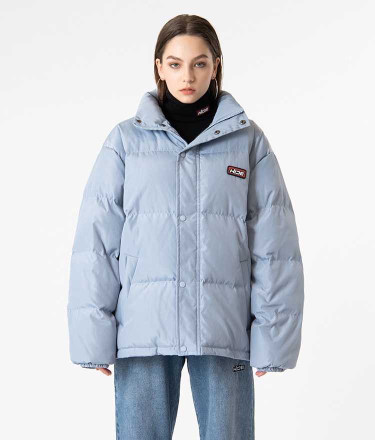 HIDESky Blue High Neck Duck Down Jacket