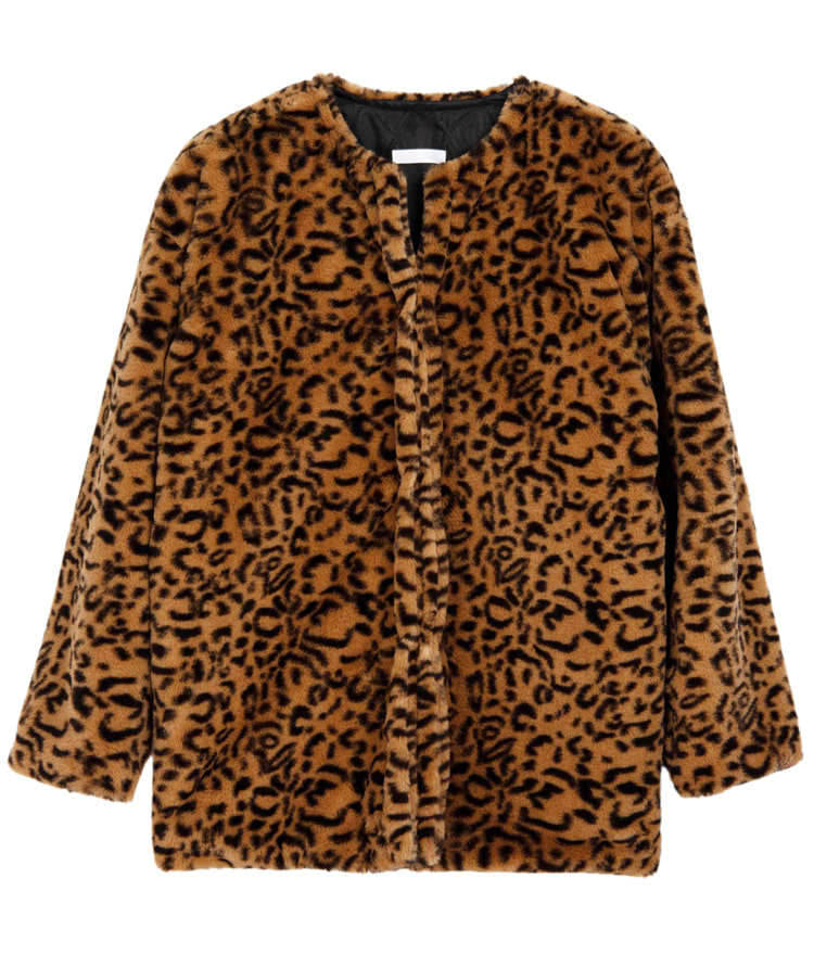 QUIETLABFaux Fur Leopard Jacket