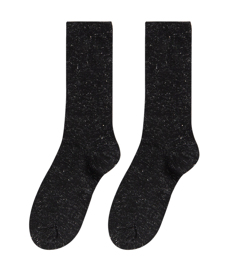 ESSAYRibbed Panel Stretchy Crew Socks
