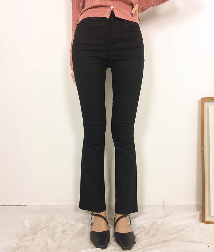 ROMANTIC MUSECotton Blend Bootcut Pants