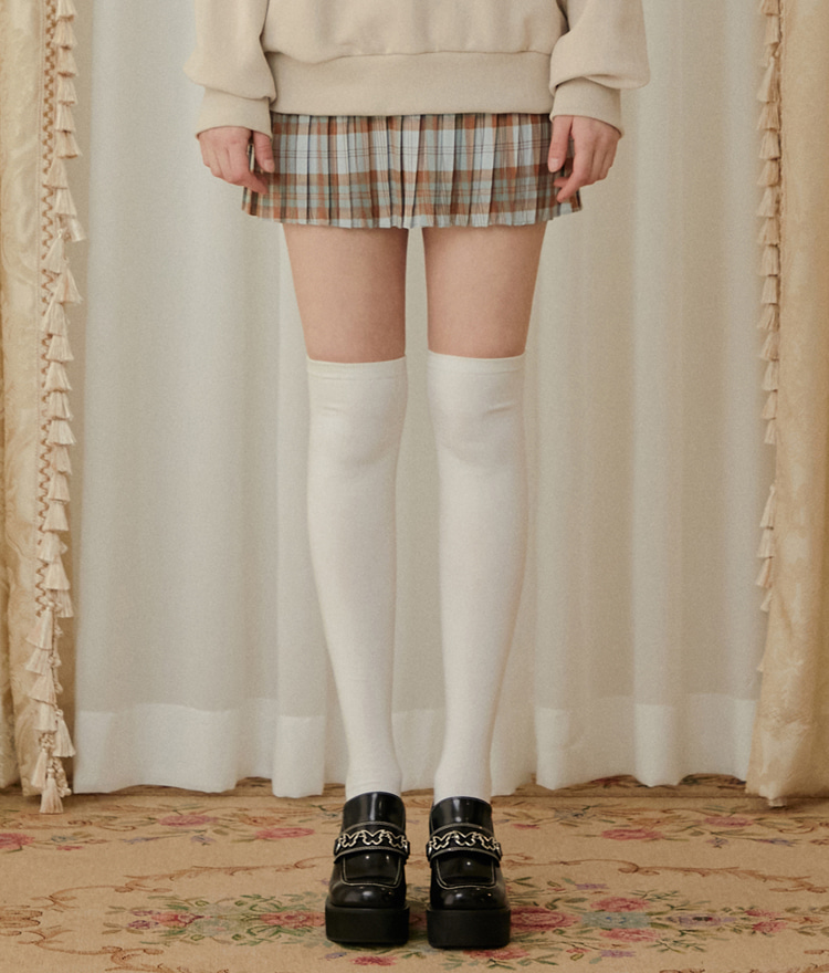 HEART CLUBBrown Check Mini Skirt