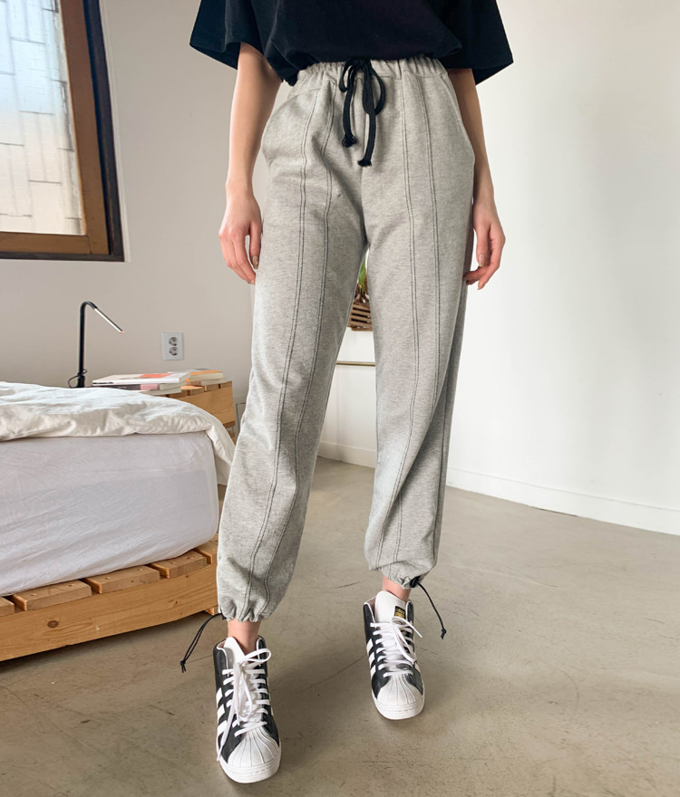 QUIETLABContrast Stitch Drawstring Waist Pants