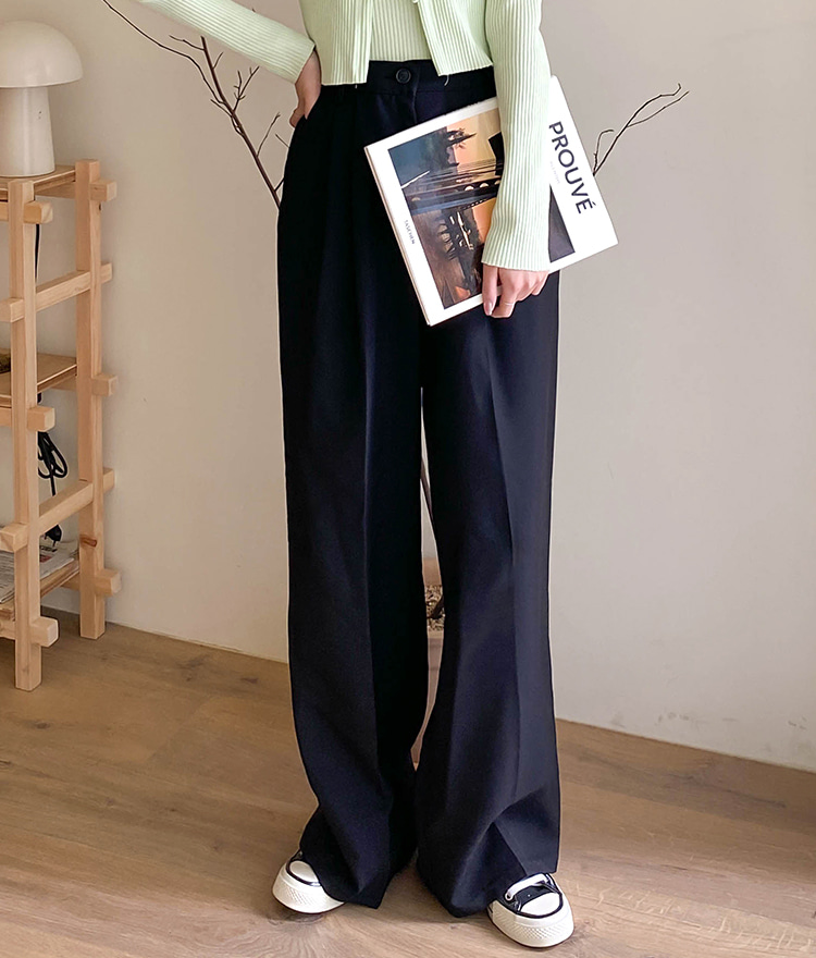 ESSAYHigh-Waisted Wide-Leg Slacks