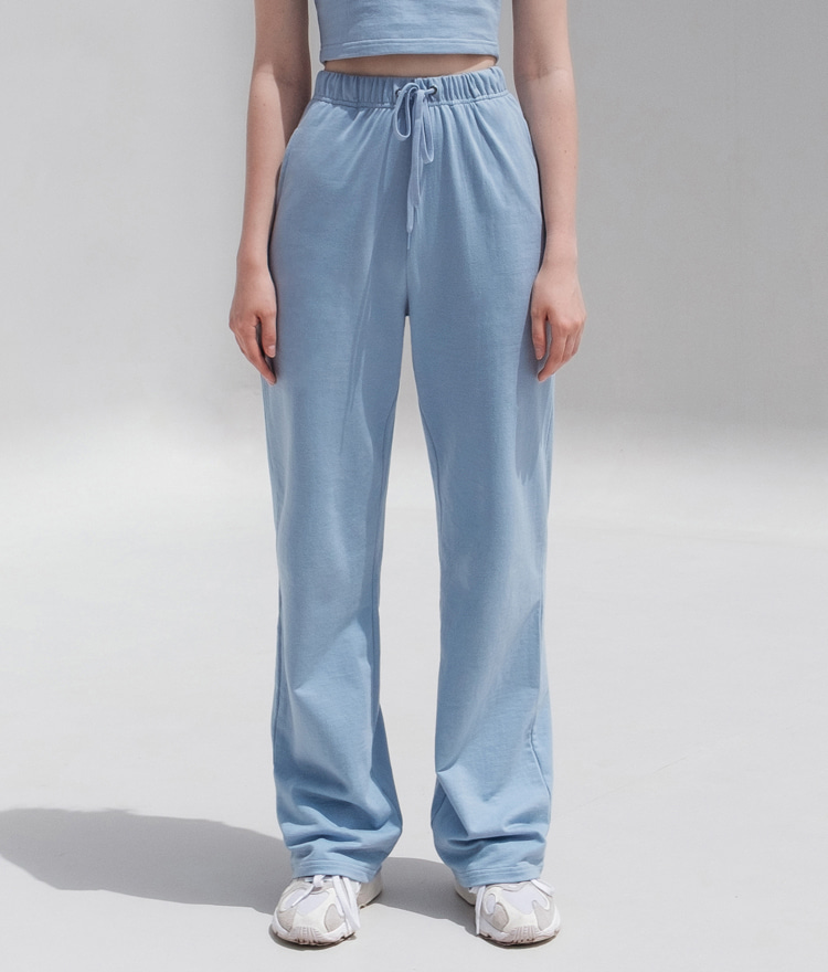 HIDESky Blue Drawstring Waist Loose Pants