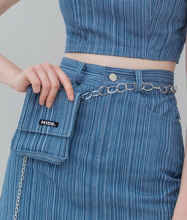 HIDEChain Strap Denim Belt Bag