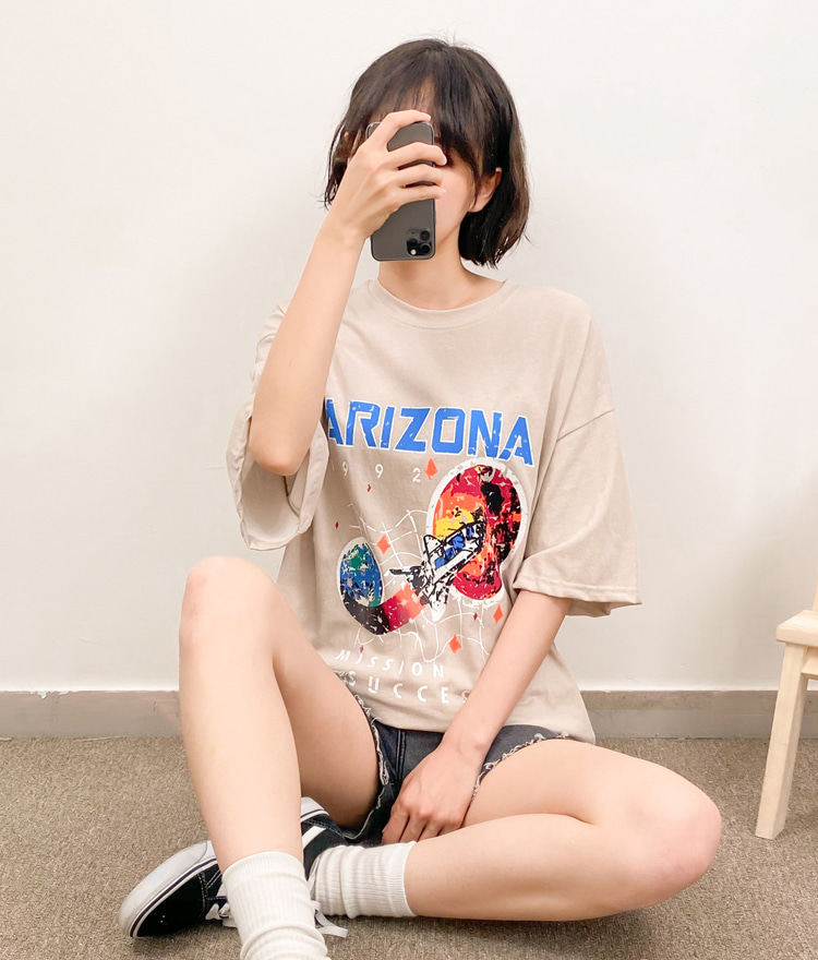 NEVERM!NDARIZONA Print Loose T-Shirt