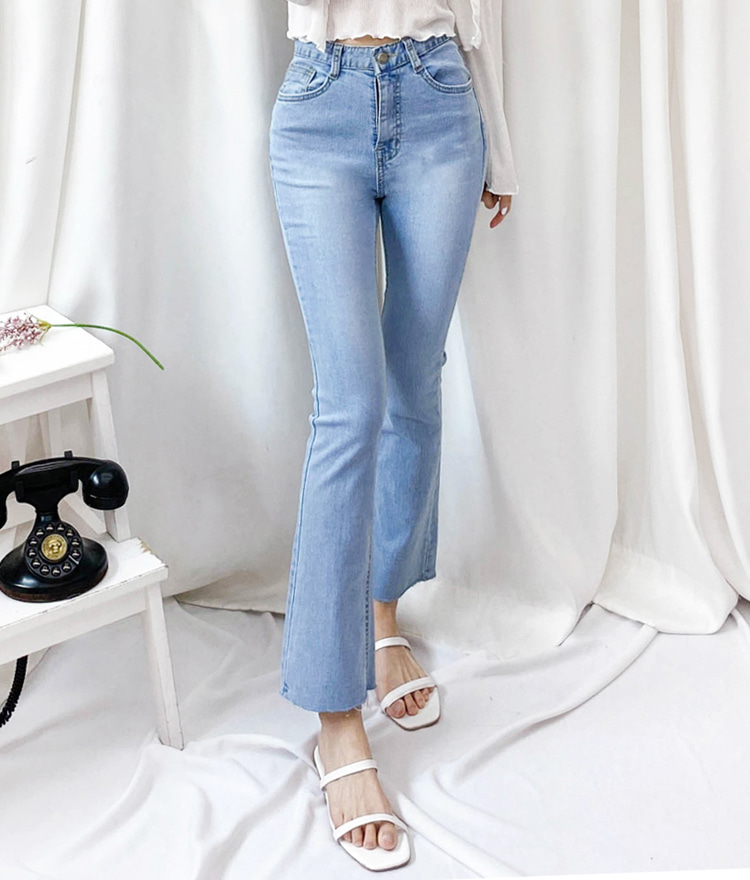 ROMANTIC MUSEFaded Sky Blue Bootcut Jeans