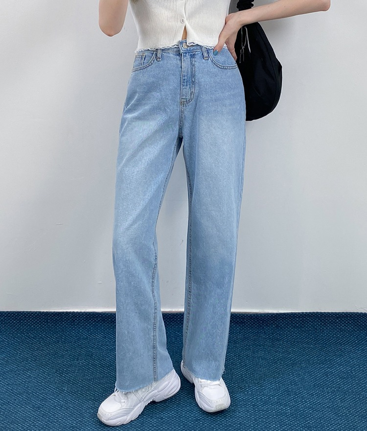 QUIETLABSky Blue Wide-Leg Jeans