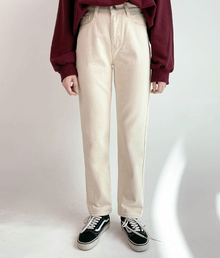 NEVERM!NDBasic Beige Cotton Pants