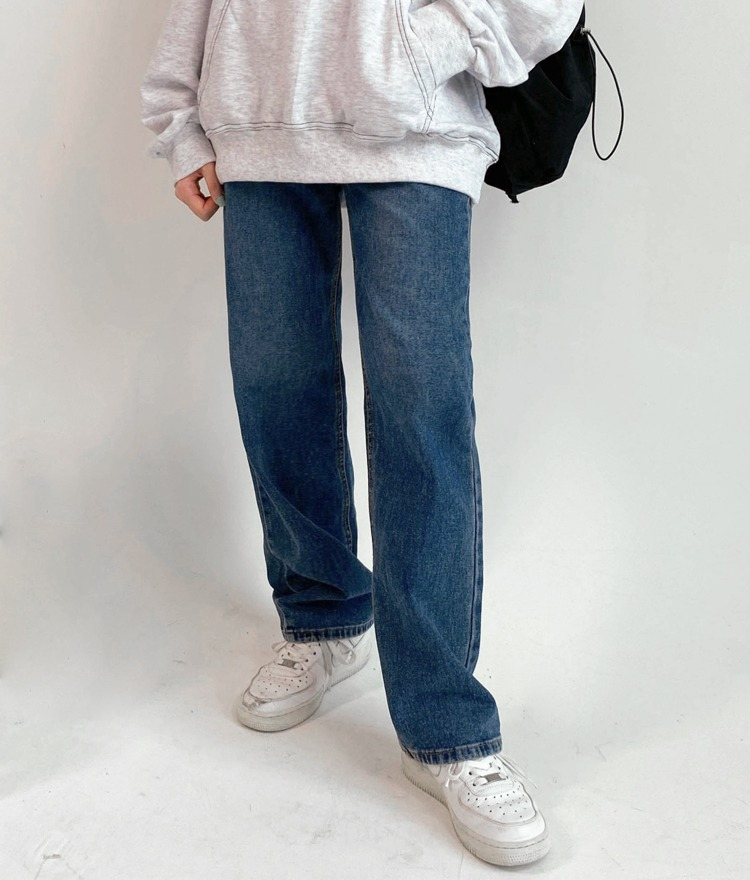 NEVERM!NDWhiskered Loose Fit Denim Pants
