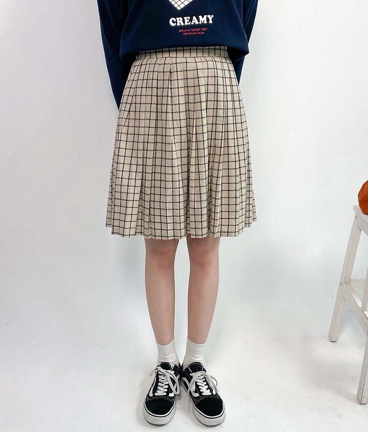 NEVERM!NDCheck Flared Skirt