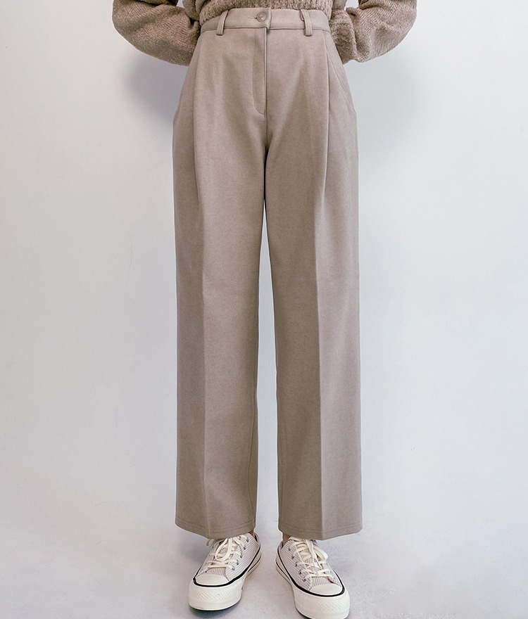 QUIETLABPleat Accent Straight Cut Slacks