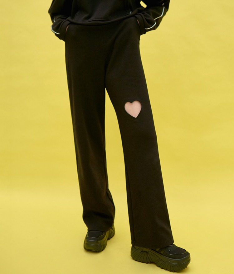 HEART CLUBHeart Cutout Loose Pants